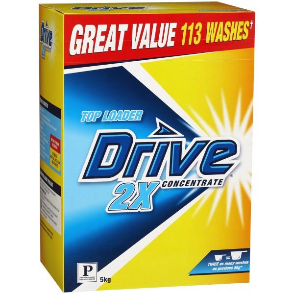 Drive 174 2x Conc Top Loader Laundry Powder Box 2x5kg