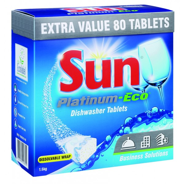 Sun Platinum Eco Dishwasher Tablets 5x80tb Detergents